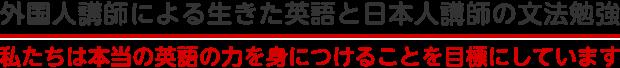 外国人講師による生きた英語と日本人講師の文法勉強