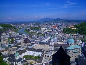 Salzburgの町