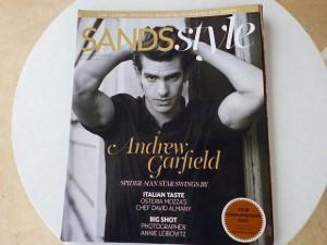 「スパイダーマン」のAndrew Garfieldが表紙の雑誌