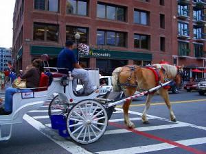 観光客用の馬車