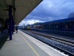 オックスフォードからロンドンまでは電車です