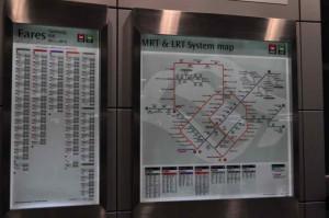 地下鉄のBay Frontの駅