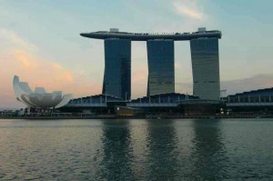 Marina Bay Sandsの全景