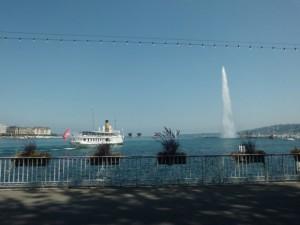 ジュネーブのシンボルの大噴水